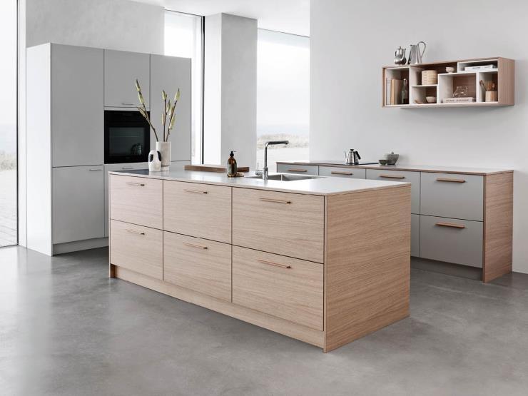 แบบห้องครัวหน้าบานไม้โอ๊ค