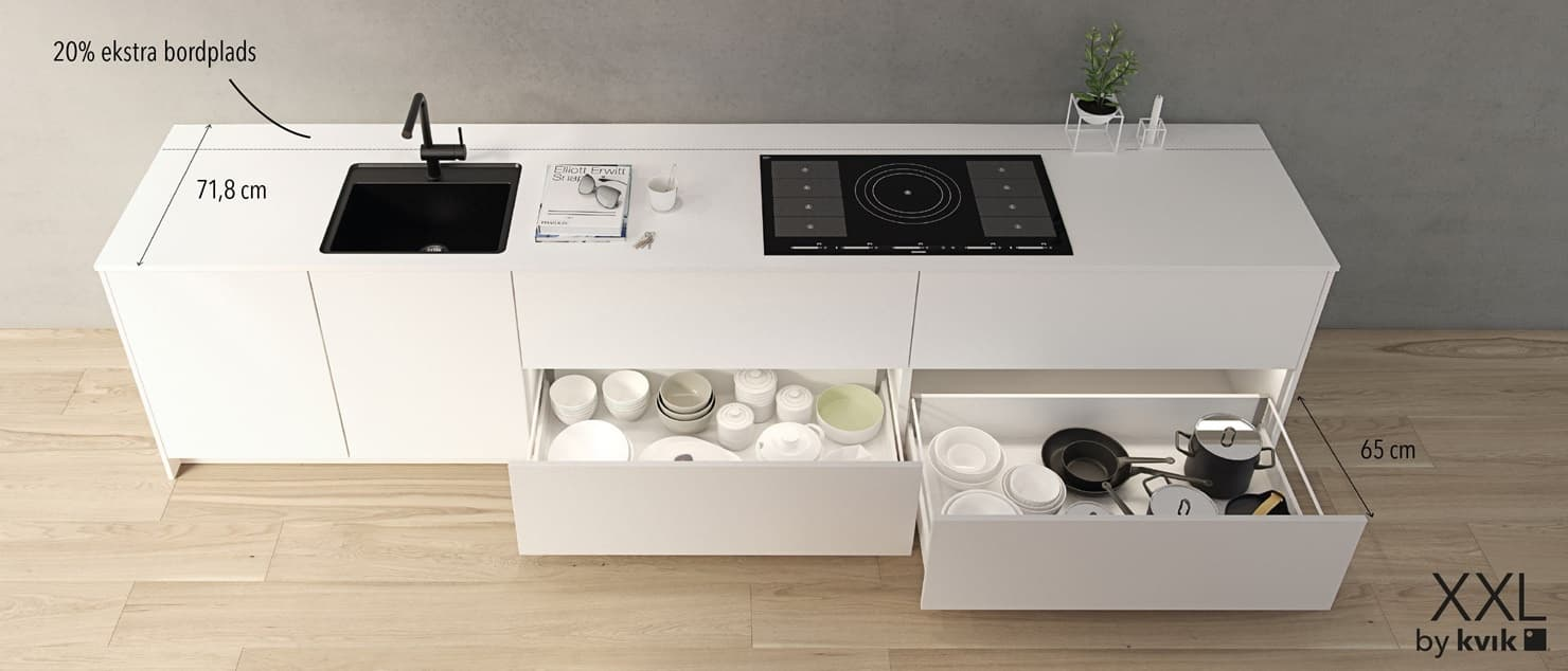 ข้อมูลภายในเคาน์เตอร์ครัวสำเร็จรูป Kvik