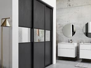 DE LUXE COMBI WARDROBE WITH MIRROR