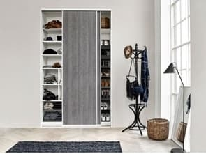 Smart Wardrobe with Ice Wood sliding doors