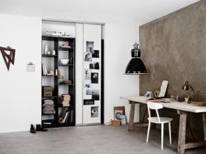 Smart sliding doors, white
